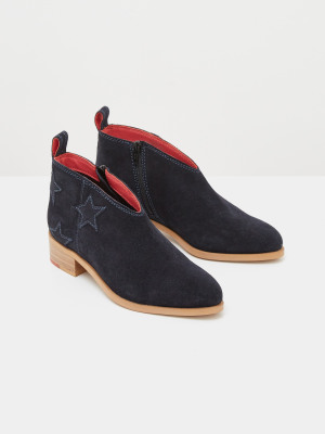 Shelly Star Suede Shoe Boots