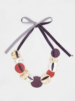 Threaded Fabric Necklace