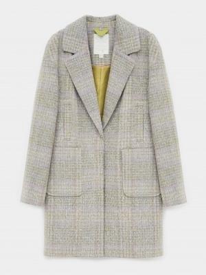 Cocoon Check Coat