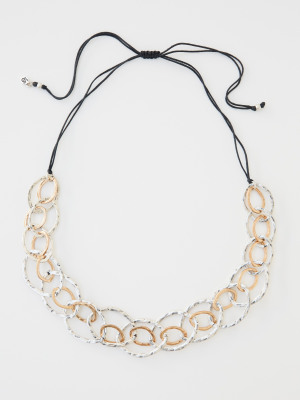 Mix Metal Link Necklace