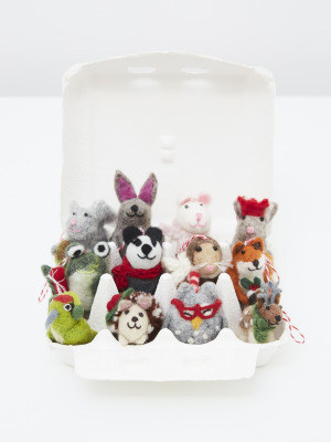 12 Egg Box Woodland Animals