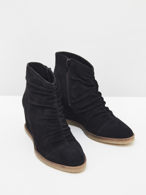 Ruched Shoe Boot