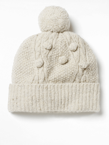 Oatmeal Chunky Cable Hat