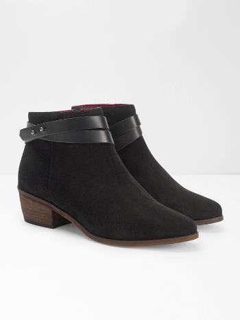 Black Sarah Strappy Cuban Ankle Boots  – White Stuff
