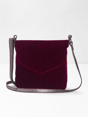 Burgundy Elsie Velvet Crossbody Bag - White Stuff