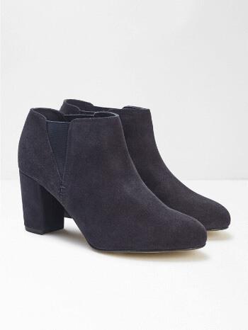 Navy Lottie Smart Shoe Boots - White Stuff