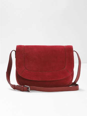 Red Helen Suede Saddle Bag – White Stuff