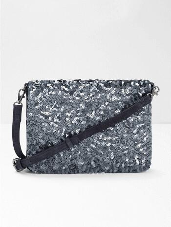 Pewter Sequin Shimmer Bag – White Stuff