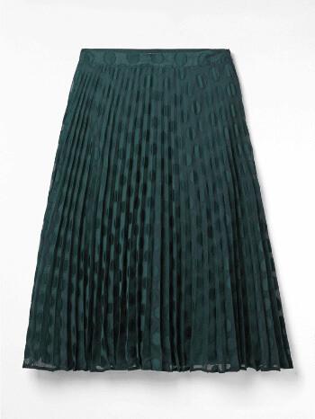 Teal Hina Pleated Midi Skirt - White Stuff