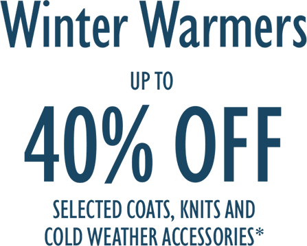 Winter Warmers - Up To 40% Off Selected...