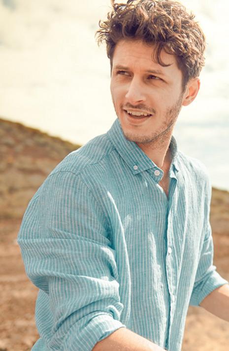 Lymington Stripe Linen Shirt