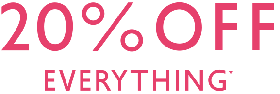 20% Off everythind