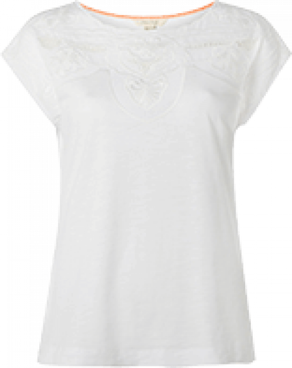 Pretty Cutwork Jersey Tee