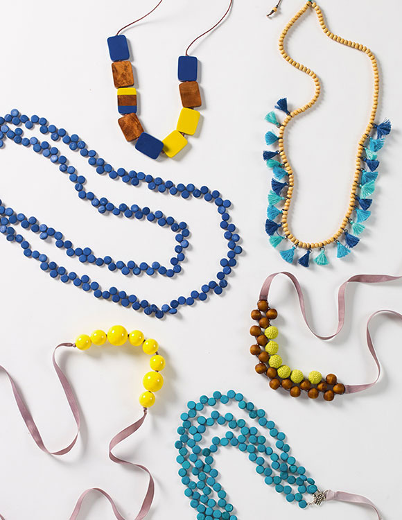 Colourful array of statement necklaces