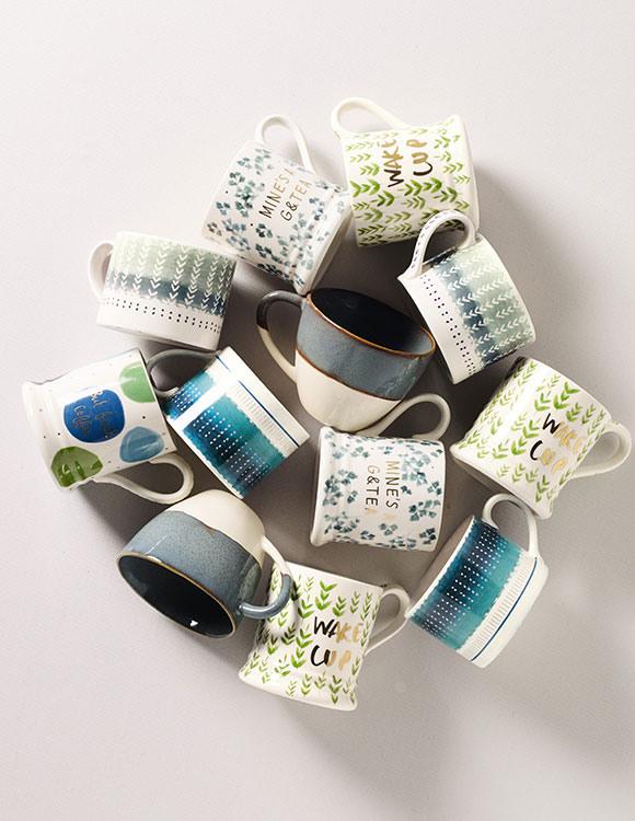 Array of novelty teacups