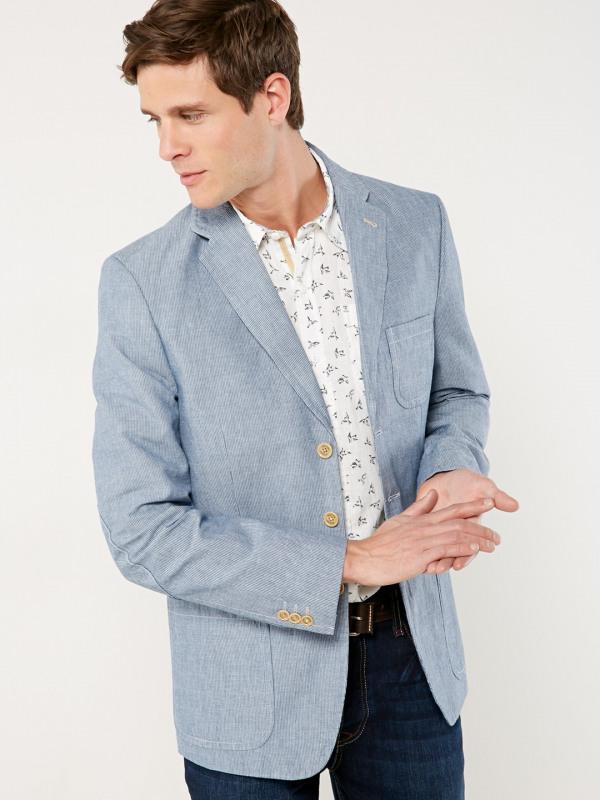 White Stuff Musi Stripe Linen Blazer