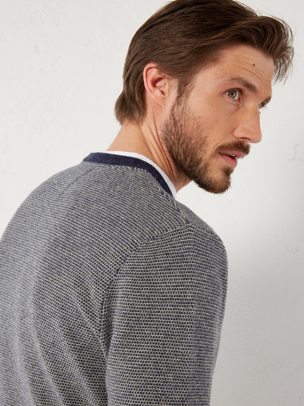 White Stuff Tuck Texture Crew Knit