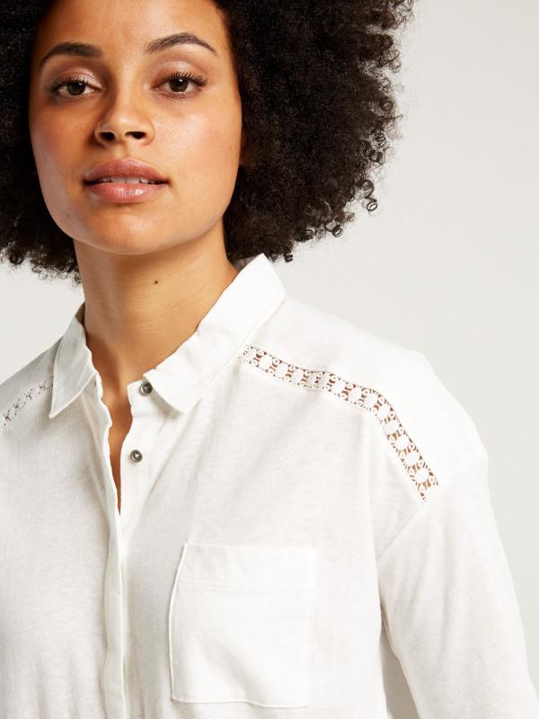 White Stuff Yannie Yoke Jersey Shirt