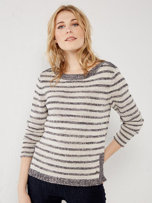 White Stuff Swift Stripe Knit Top