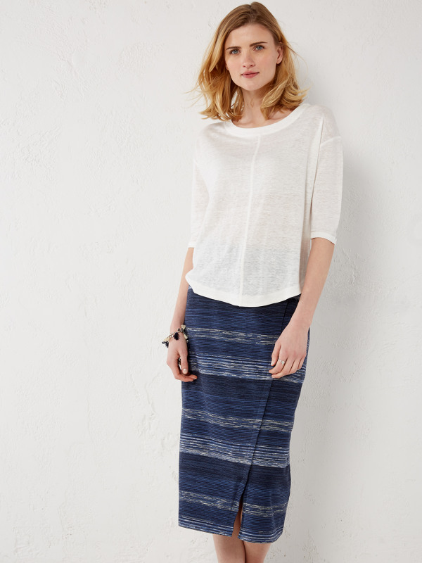 White Stuff Gradient Jersey Skirt