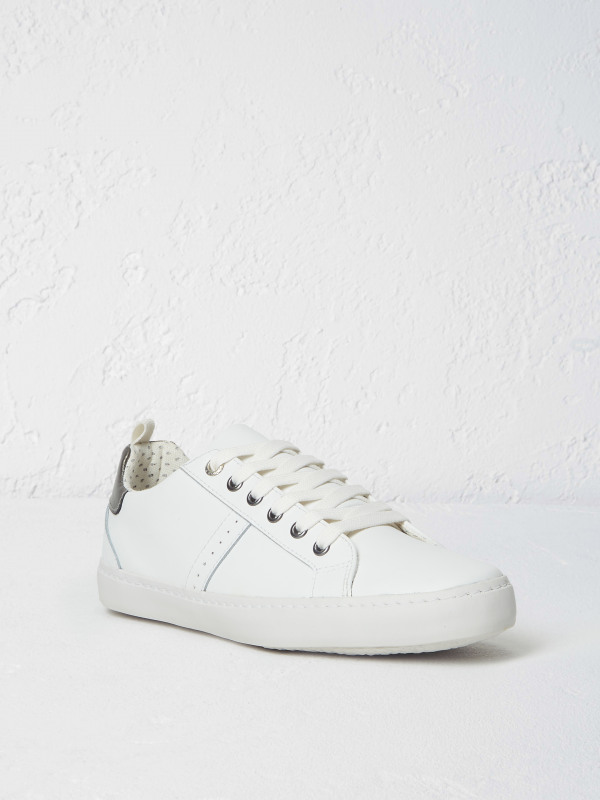 White Stuff Punchout Lace Up Trainer