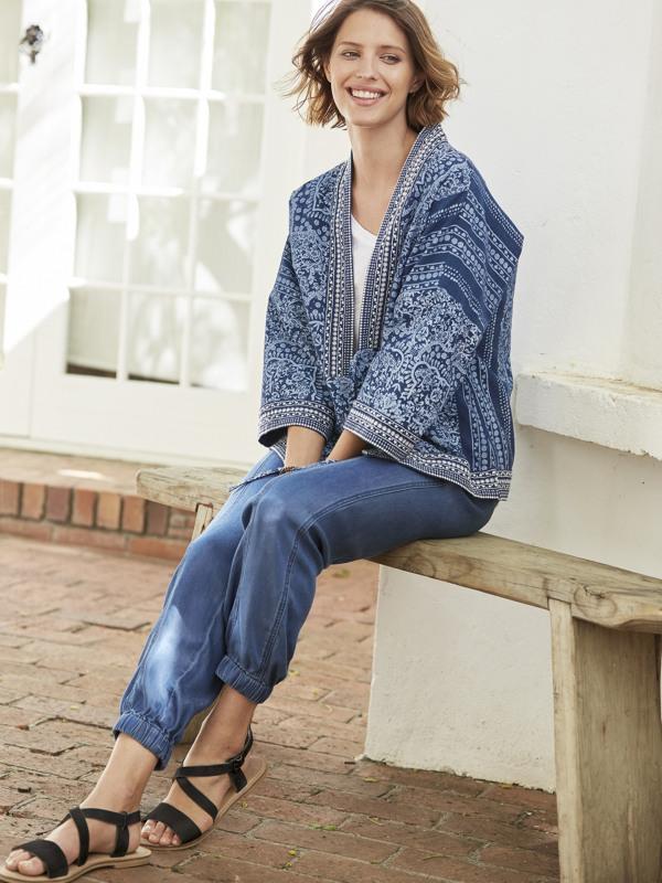 White Stuff Selvedge Stitch Kimono