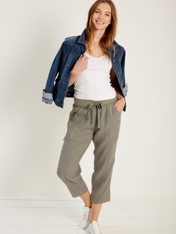 White Stuff Faria Linen Crop Trouser