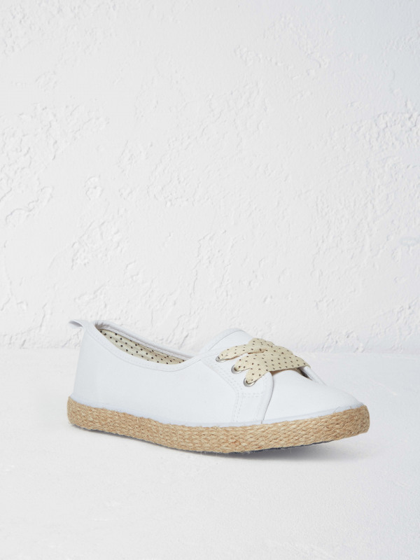 White Stuff Jute Pump