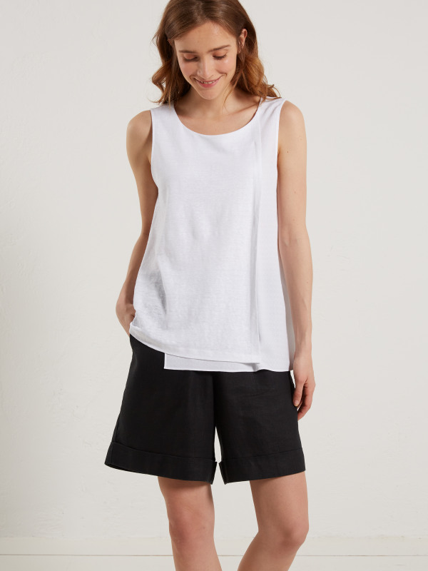 White Stuff Wrap Around Jersey Vest