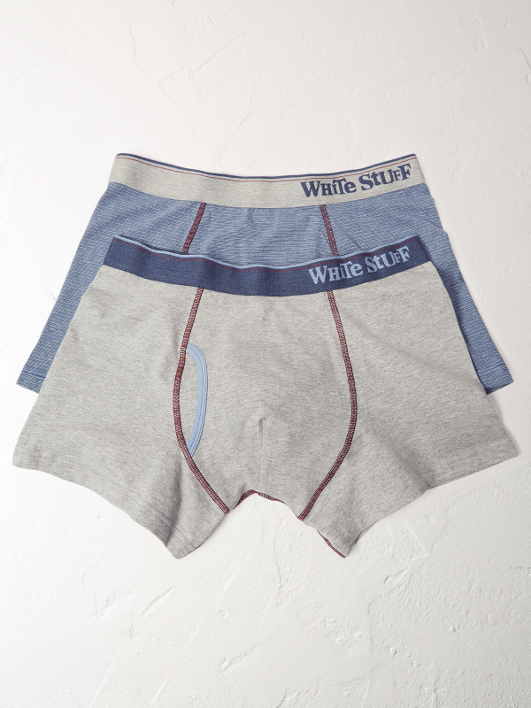 White Stuff Fine Stripe Double Pack Boxer