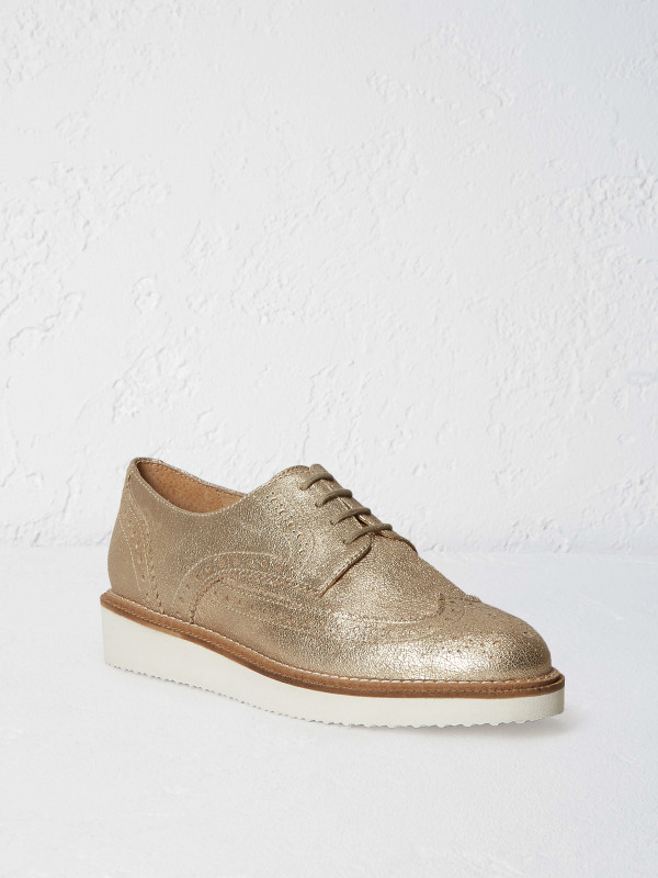 White Stuff Metallic Tone Brogue Shoe