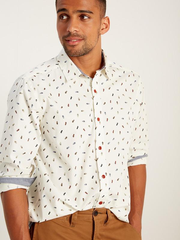 White Stuff Flip Flop Print Ls Shirt