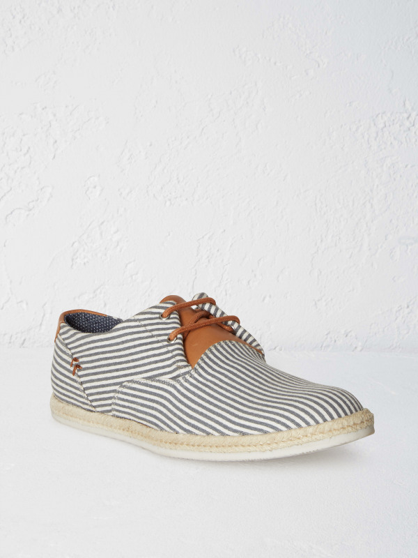 White Stuff Mens Stripe Espadrille Shoe