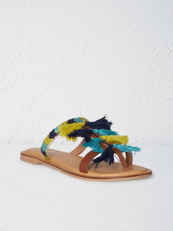White Stuff Tassel Flat Sandal