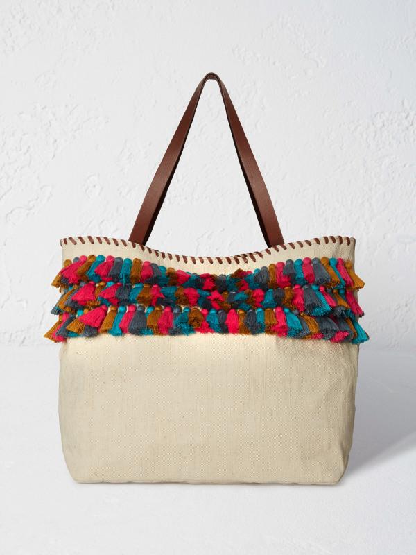 White Stuff Laurie Tassel Tote Bag