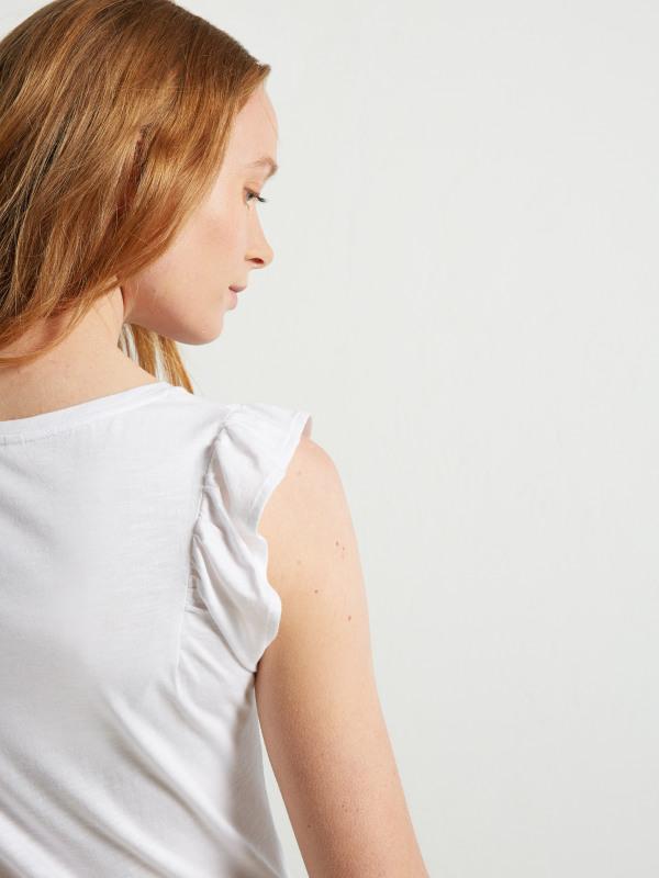 White Stuff Butterfly Frill Jersey Vest