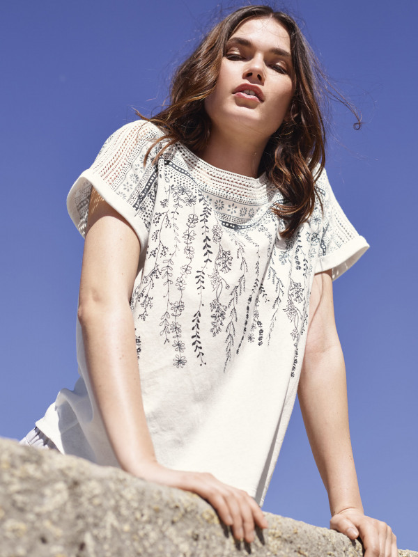 White Stuff Leah Placement Jersey Tee