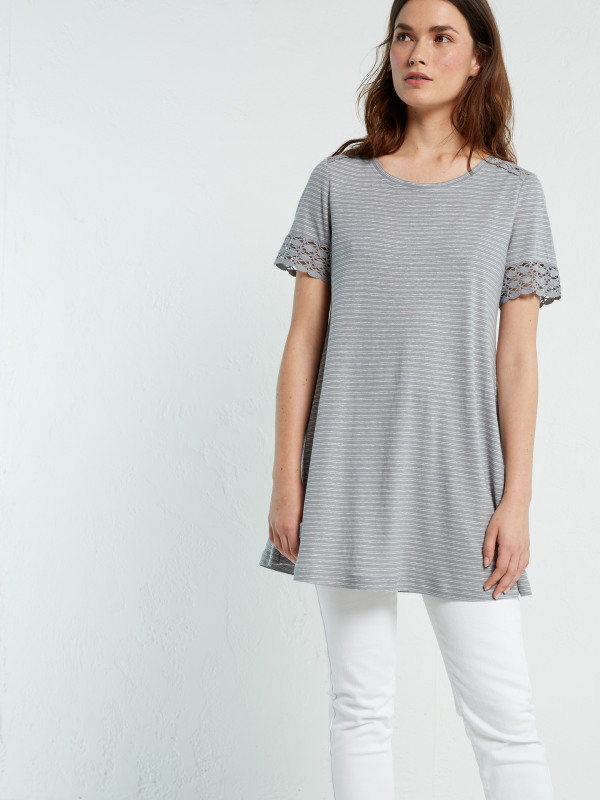 White Stuff Flossie Stripe Jersey Tunic