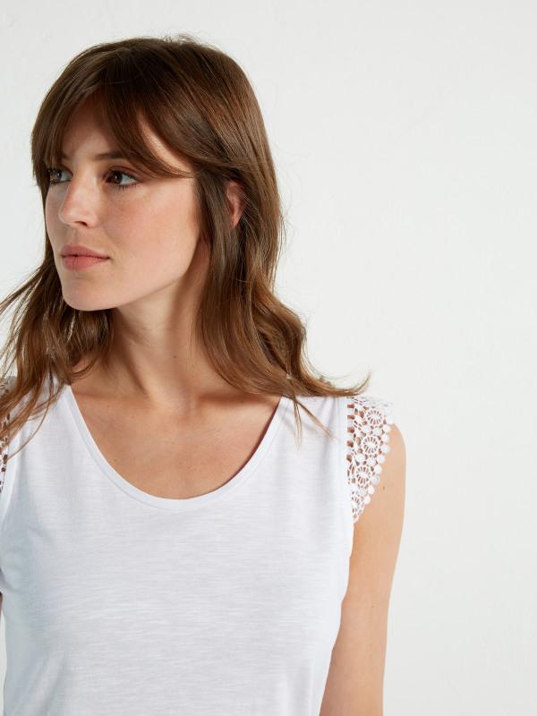 White Stuff Lilly Lace Jersey Vest