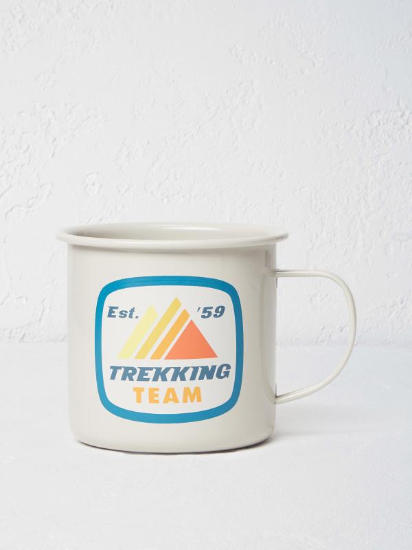 White Stuff Trekking Team Enamel Mug