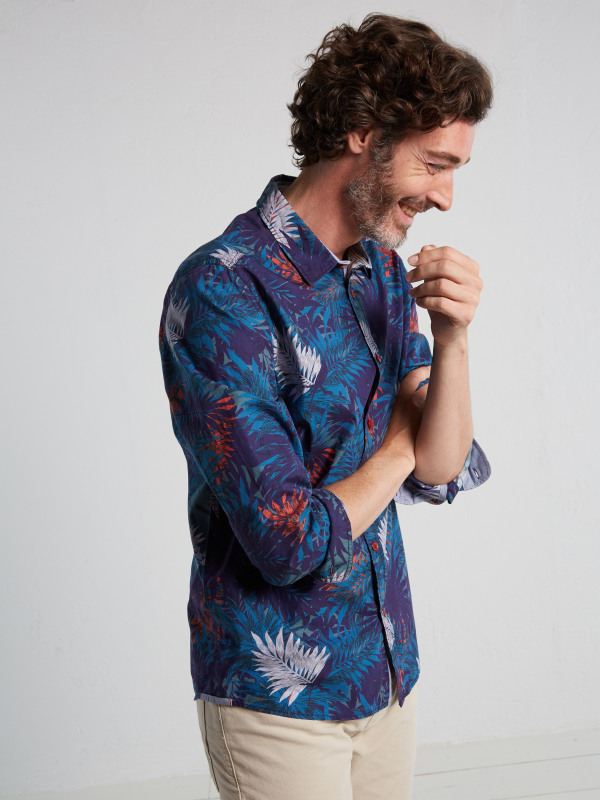 White Stuff Tropical Print Ls Shirt