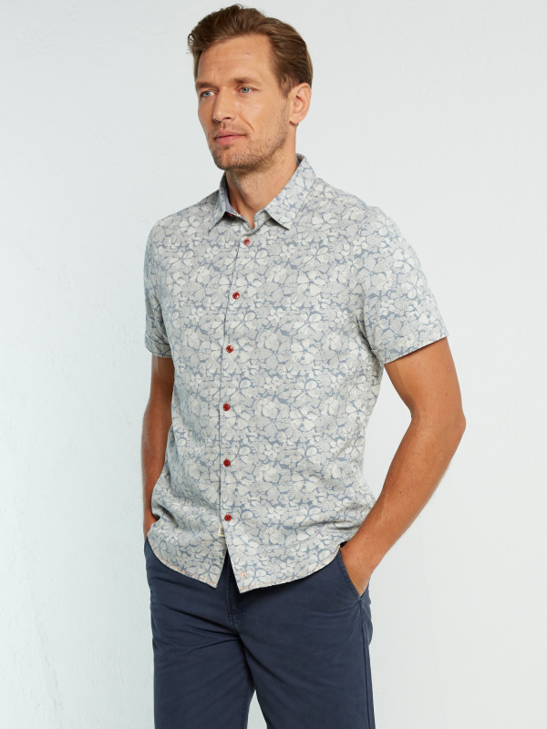 White Stuff Lotus Jacquard Ss Shirt