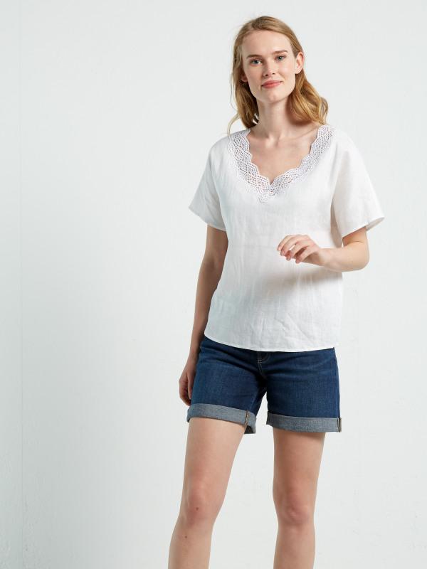 White Stuff Connie Linen Top