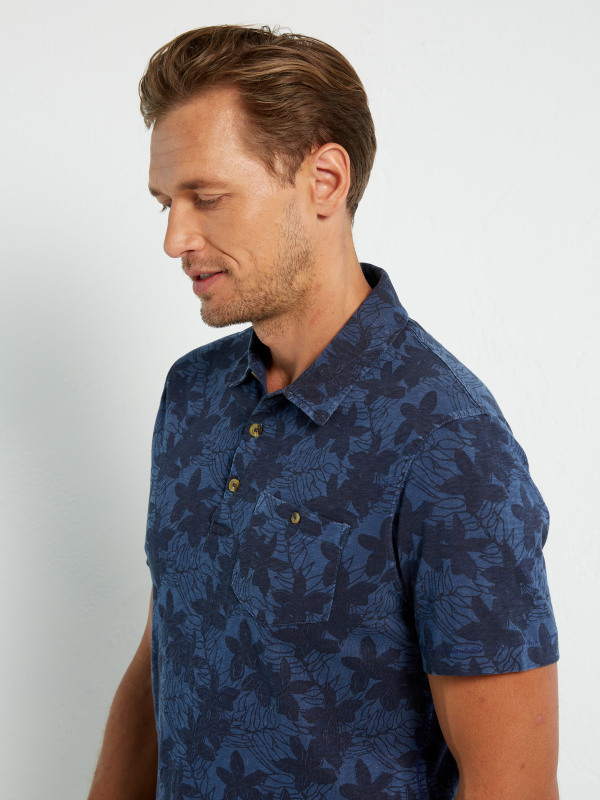 White Stuff Pecan Pattern Polo