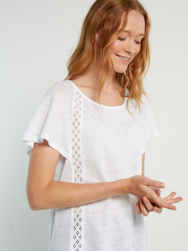 White Stuff Pippa Cape Sleeve Jersey Tee