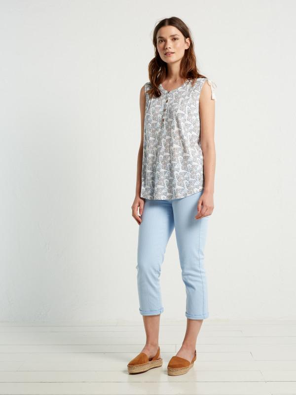 White Stuff Fayoumi Jersey Shirt Vest