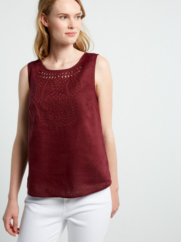 White Stuff Cutwork Karala Vest