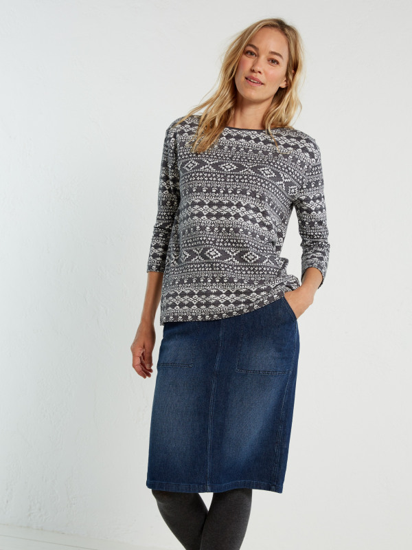 White Stuff Kildare Denim Stretch Skirt