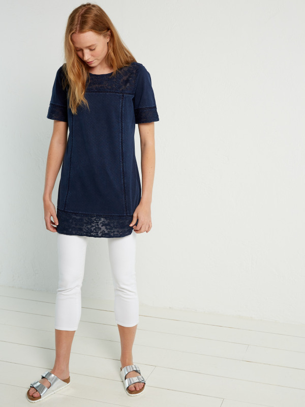 White Stuff Denim Look Jersey Tunic