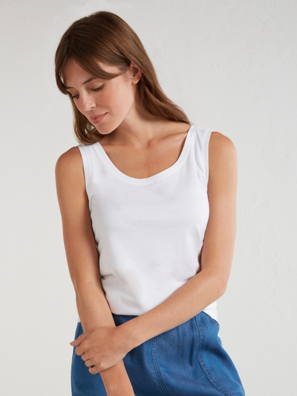 White Stuff Brushed Layer Up Jersey Vest